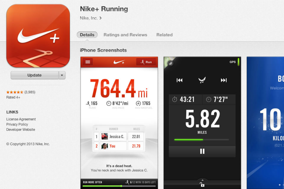 Aplikasi Nike+Running for iOS